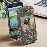 Personalized Photo Samsung Galaxy 3 Cases - Peace, Love, Dogs - 13471