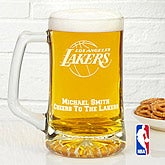 NBA Logo Personalized Deep Etch Beer Mug