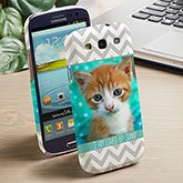 Personalized Photo Galaxy 3 Cell Phone Case - Picture Perfect Chevron - 13484