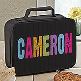 Personalized Girls Lunch Box - Hands Off - 13486