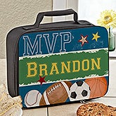 Personalized Sports Lunch Bag - Baseball, Soccer, Football, Basketball - 13491