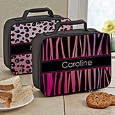Personalized Girls Lunch Tote - Animal Print - 13493