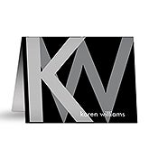 Personalized Note Cards - Large Monogram - 13517