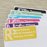 Large Personalized Return Address Labels - Monogram - 13518