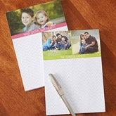 Personalized Photo Chevron Notepads - 13521