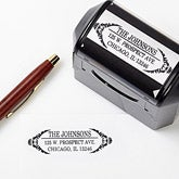 Personalized Return Address Stamp - Delicate Flair - 13525