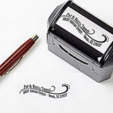 Personalized Return Address Stamp - Lovely Swirls - 13528