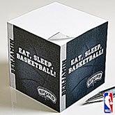 Personalized NBA Basketball Note Pad Cube - 13533