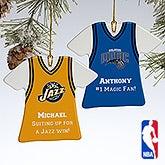 Personalized NBA Basketball Jersey Christmas Ornaments - 13534