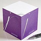 Personalized Sticky Note Cubes - Stylish Monogram - 13543