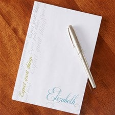 Personalized Notepad - Inspirational Message - 13547