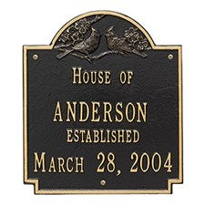 Personalized Aluminum Family Name House Plaque - 1354D