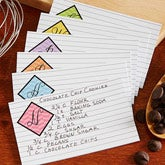 Personalized Recipe Cards - Colorful Monogram - 13552