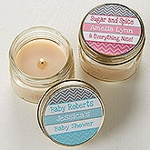 Personalized Baby Shower Favors - Chevron Candles - 13558