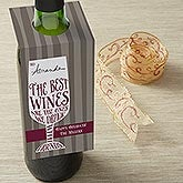 Personalized Wine Bottle Tags - Friendship & Wine - 13559