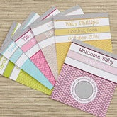 Personalized Baby Shower Games - Chevron Scratch Off Card - 13563