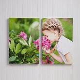Personalized Split-Panel Photo Canvas Print - Two Canvas - 13566