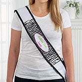Personalized Party Girl Satin Sash - 13607