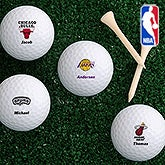 Personalized NBA Basketball Logo Golf Balls - 13617