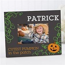 Personalized Halloween Pumpkin Picture Frame - Cutest Pumpkin - 13628