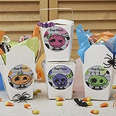 Personalized Halloween Stickers & Treat Boxes - Little Monsters - 13635