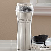 Personalized Stainless Steel Drink Tumbler - Viva Las Vegas - 13636