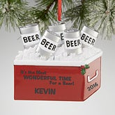 Personalized Christmas Ornaments - Beer Cooler - 13639