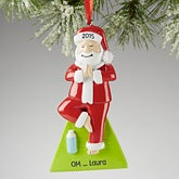 Personalized Yoga Christmas Ornaments - Yogi Santa - 13641