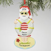Personalized Christmas Ornaments - Tropical Santa - 13642