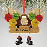 Personalized Family Christmas Ornaments - Moose - 13644