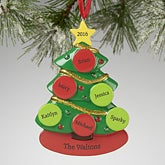 Personalized Christmas Ornaments - Family Christmas Tree - 13648