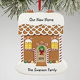 Personalized Christmas Ornaments - Gingerbread House - 13649