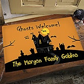 Personalized Halloween Haunted House Doormats - 13658
