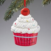 Personalized Christmas Ornaments - Cupcake - 13662