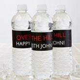 Personalized Water Bottle Labels - Party Time Striped - 13665