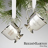 Personalized Baby's First Christmas Ornament - Reed & Barton Silver Cup - 13676