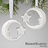 Girls Silver Personalized Baby Christmas Ornaments - Reed & Barton - 13678