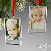 Personalized Picture Frame Christmas Ornaments  - Lenox Glass Frame - 13681