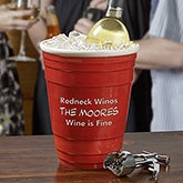 Personalized Wine Chiller - Big Red Party Cup - 13694