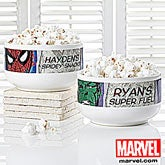 Personalized Marvel Superhero Bowls - Wolverine, Iron Man, Spiderman, Hulk - 13702