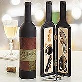 Personalized Wine Accesory Gift Set - Fleurish Wine Bottle - 13717
