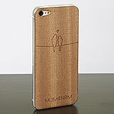 Personalized Wood Cell Phone Skins for iPhone 5 - Love Birds - 13738