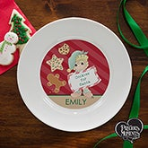Personalized Christmas Elf Plate - Precious Moments - 13754