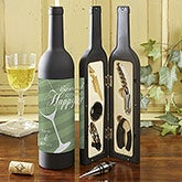 Personalized Wine Bottle Accessory Kit - Uncork Some Happy - 13759