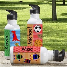 Personalized Water Bottle for Boys - Just For Him - 13766