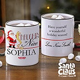Personalized Holiday Coffee Mug - Santa Claus Naughty Or Nice - 13770