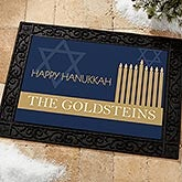 Happy Hanukkah Personalized Doormat