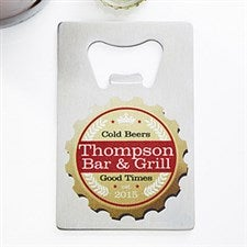 Personalized Bottle Opener - Credit Card Size - Premium Brew - 13789