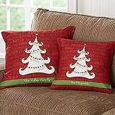 Personalized Throw Pillows - Christmas Tree - 13795