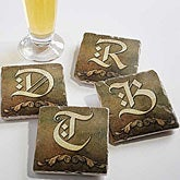 Personalized Stone Drink Coasters - Monogram - 13798